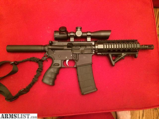 Armslist For Sale Ar 15 300 Blackout Pistol With Scope