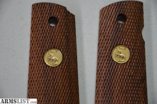 ARMSLIST - For Sale: Colt 1911 Gold Cup wood grips