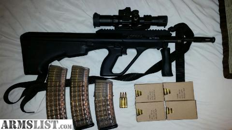 Armslist for sale lnib reduced price steyr aug a3 w scope selling like new in box steyr aug a3 with only 30 rounds shot with included 30 round steyr magazine for sale i am including two additional steyr 42 round voltagebd Gallery