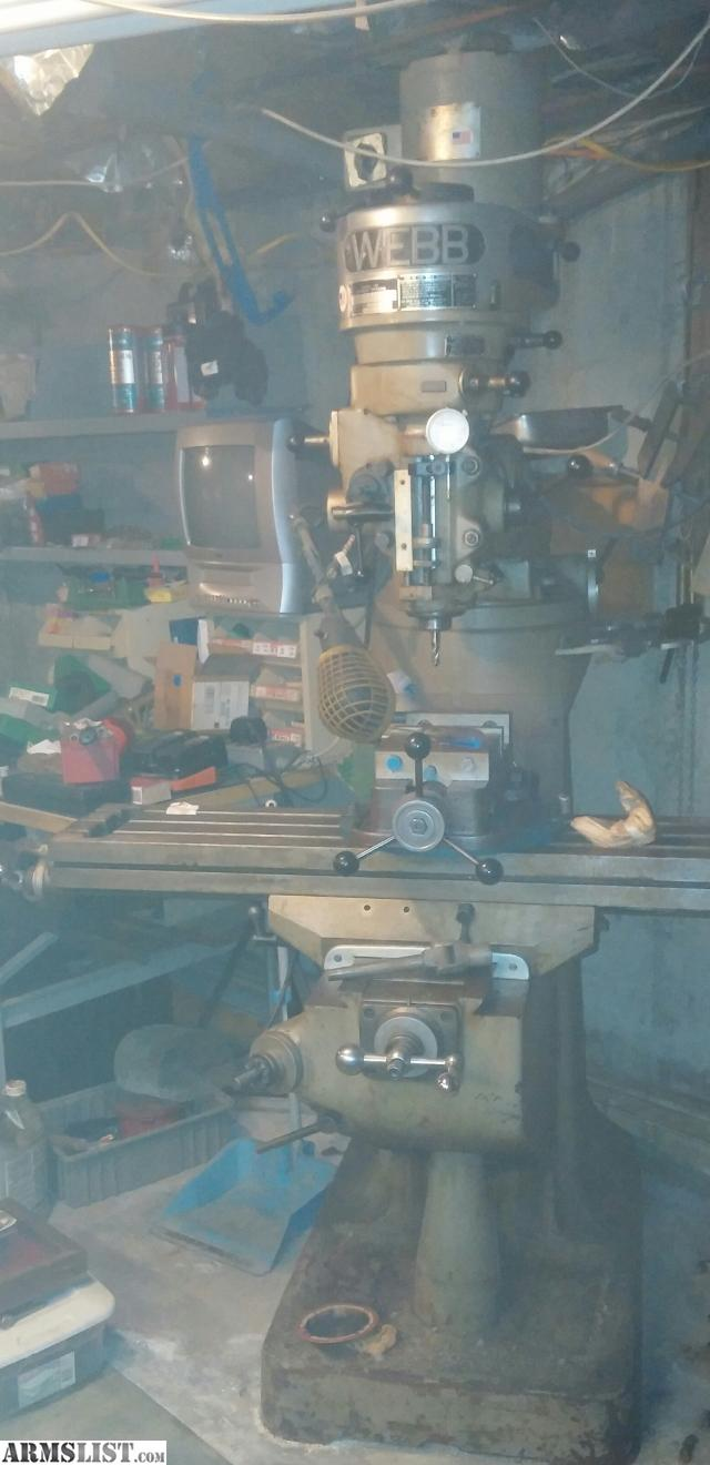 webb milling machine parts