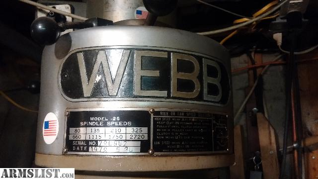 webb milling machine