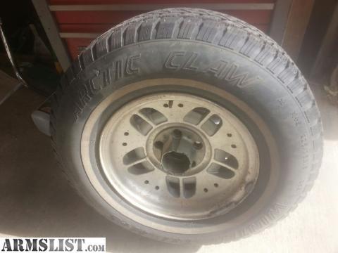 armslist for sale 4 studded snow tires with rims ford ranger. Black Bedroom Furniture Sets. Home Design Ideas