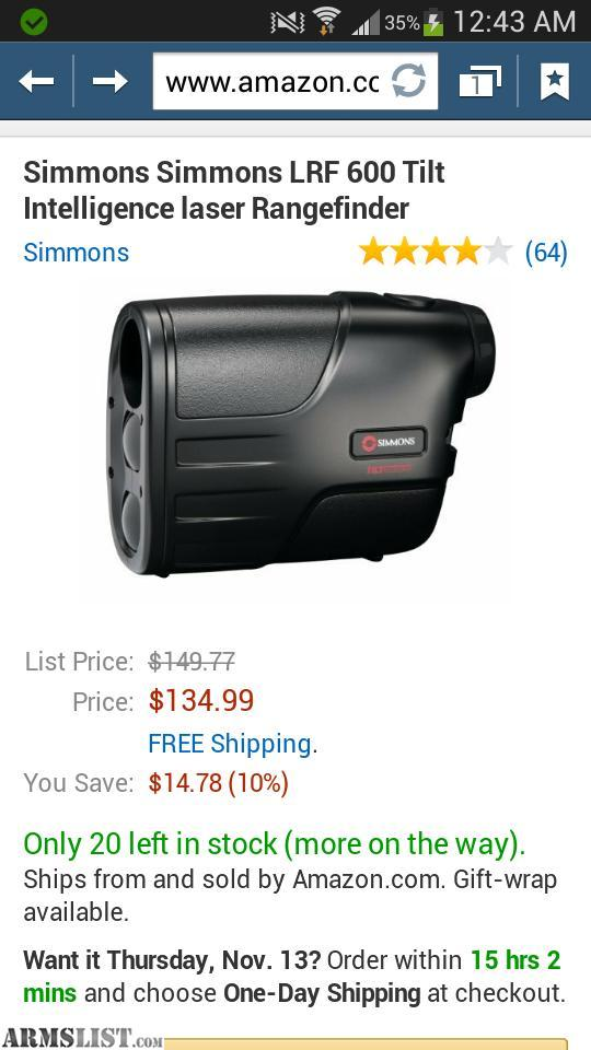 simmons tilt intelligence. hey guys i have a brand new rangefinder that got in raffle at work. the thing is already exact same one so ill be passing on this simmons tilt intelligence