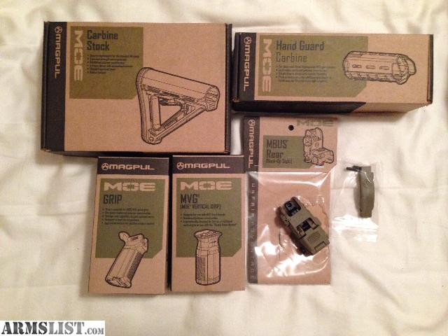 Armslist For Sale Magpul Moe Ar15 Set W Mbus Rear Sights And Trigger Guard