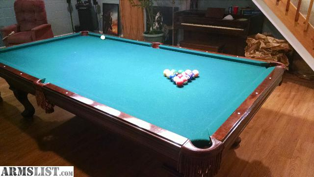 Armslist for sale trade 9 foot olhausen pool table for 12 foot snooker table for sale