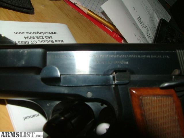 Browning hi power 9mm made in belgium 1975 quot c quot series serial number