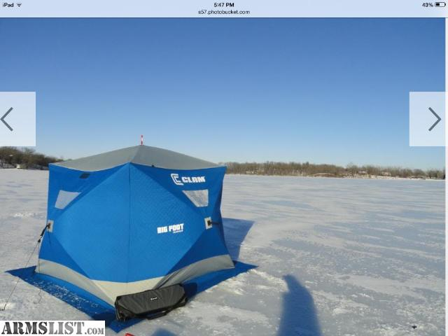 Armslist for sale clam bigfoot xl400t ice shanty for Ice fishing shanty for sale