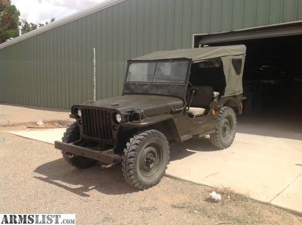armslist for sale 1942 willis jeep. Black Bedroom Furniture Sets. Home Design Ideas