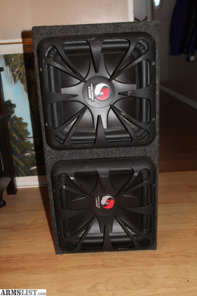 Armslist for sale kicker speakers and kicker amp two 12 kicker l5s in a sealed box speaker specs and box they are 2 ohms 1200w peak rms 600watts box is 135 high285 long1375 wide sciox Image collections