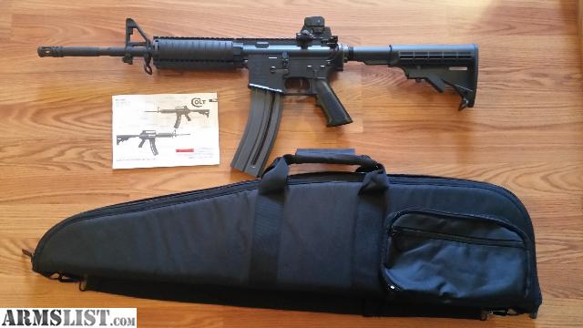 armslist for sale colt m4 ops 22lr rifle with case 30 round magazine. Black Bedroom Furniture Sets. Home Design Ideas