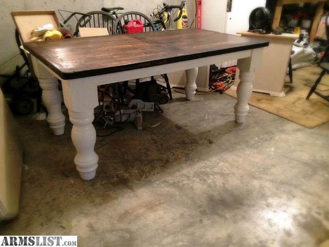 armslist for sale trade reclaimed barn wood table. Black Bedroom Furniture Sets. Home Design Ideas