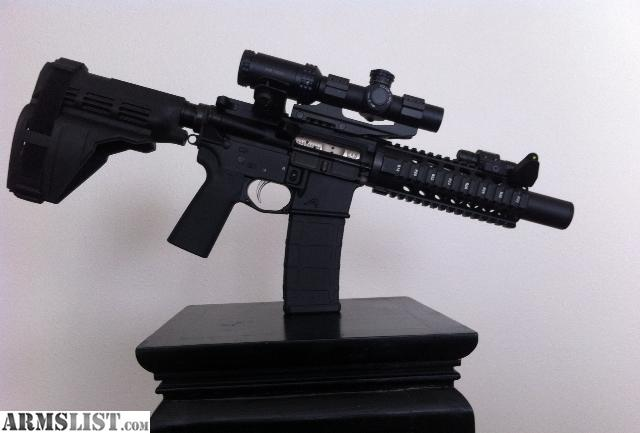 Armslist For Sale 7 5in Ar Pistol 5 56 223 With 1x4