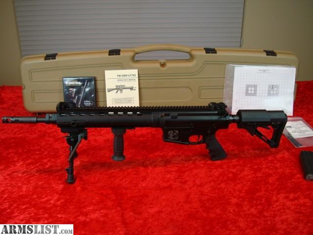 Up for sale LARUE TACTICAL OBR Model LT-762 Semi Automatic Sniper Rifle in  308 Win caliber. It is 18