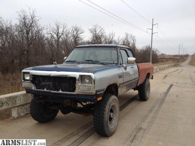 armslist for sale 1993 dodge w250 cummins turbo diesel lifted 4x4. Black Bedroom Furniture Sets. Home Design Ideas