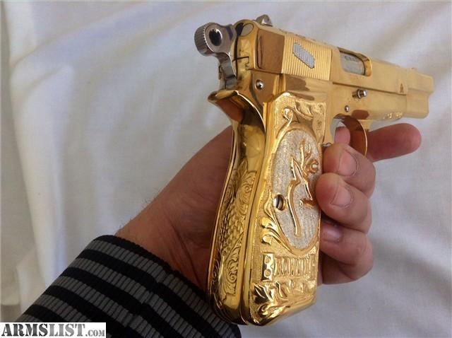 Armslist For Sale Browning Hi Power Engraved Gold Plated