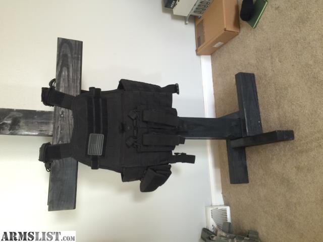 Made with extra time dont use it anymore. Stained black. Holds plate carrier helmet and other gear. & ARMSLIST - For Sale: Tactical Gear Stand