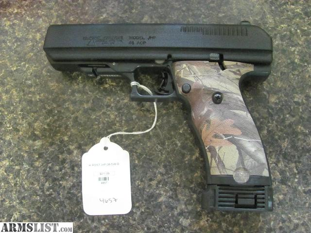 ARMSLIST - For Sale: HI POINT JHP 45 BRAND WITH WITH EXTRA GRIPS