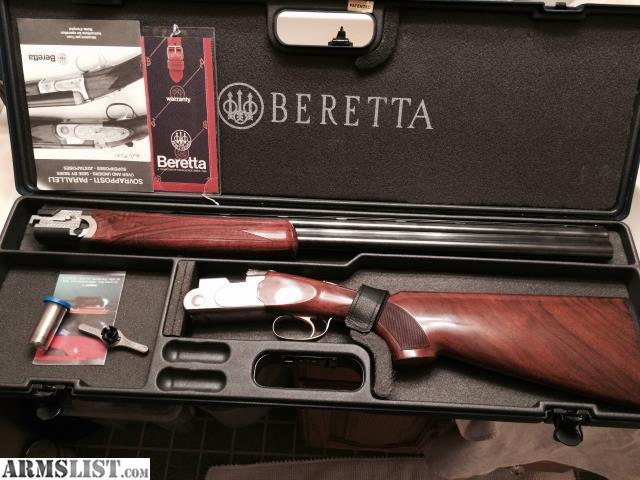 For sale beretta o/u, 686 sporting silver pigeon i, 12 ga, 32.