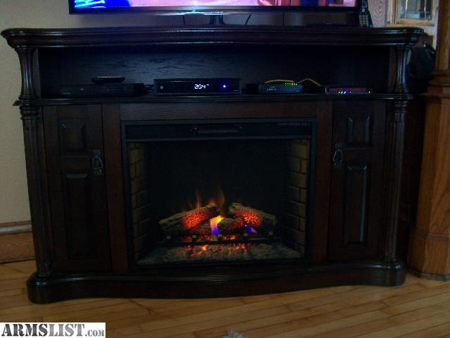 ARMSLIST - For Trade: Large electric fireplace tv stand to trade ...
