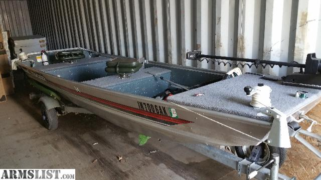 Armslist for sale trade 14 39 bass tracker jon boat for Jon boat bass fishing