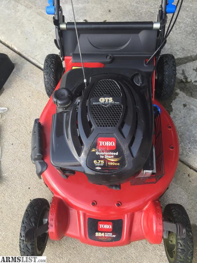armslist for sale  trade toro sr4 super recycler self propelled mower for firearms toro sr4 lawn mower manual toro sr4 lawn mower manual