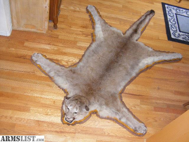 Cat Skin Rug Measures 78 Inches Nose To Tail And Has All Claws With Plastic  Mouth Form. Double Felt Border And Cloth Backing. Shipping Is Negotiable.