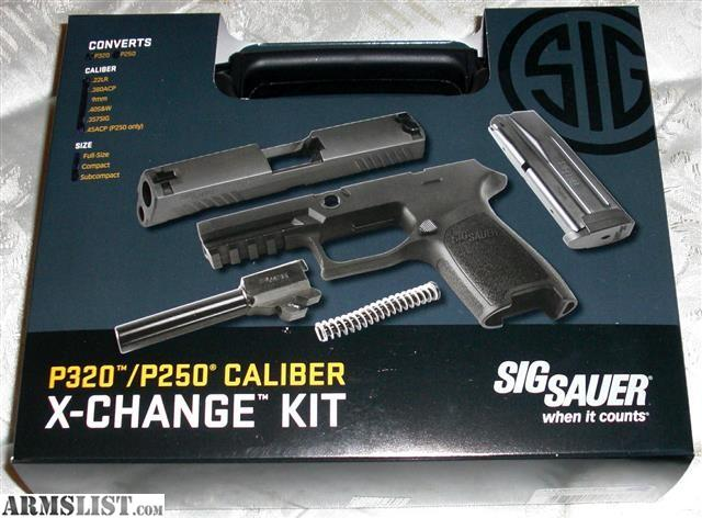 ARMSLIST - For Sale: Sig Sauer P320 Full Size 9mm X-change Kit ...
