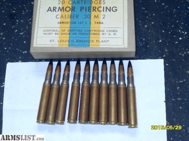 ARMSLIST - For Sale: 30/06 Black Tip AP ammo