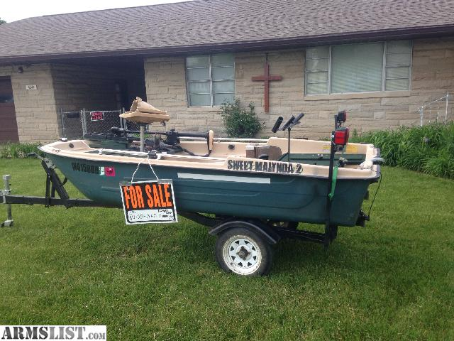 armslist for sale nice 2 man bass boat