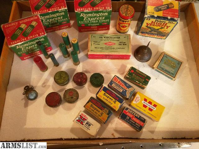 This Is A Large Lot Of Hunting Collectable Items The Shotgun Shell Boxes Are Full Loaded Ammo Most All Smaller As Well