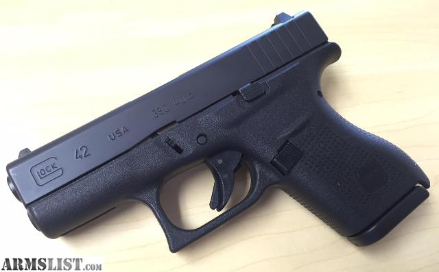 armslist for sale glock g42 380 2 magazines