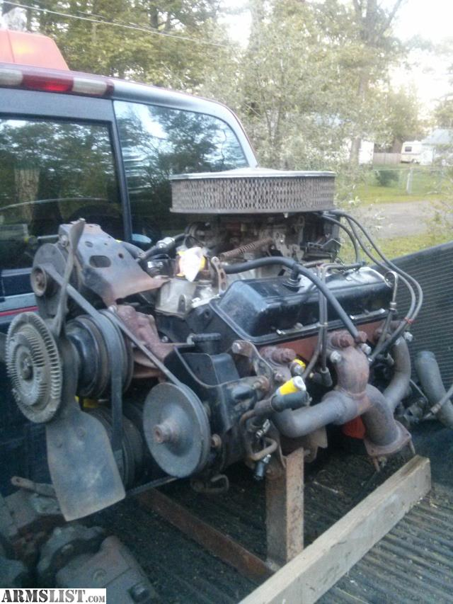 armslist for sale trade 350 chevy engine with edelbrock intake and carburator. Black Bedroom Furniture Sets. Home Design Ideas