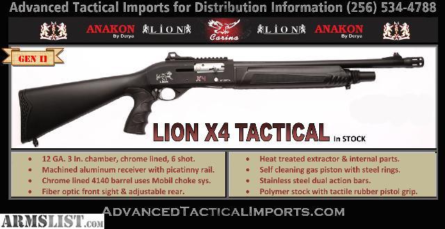 ARMSLIST - For Sale: Lion X4 tactical auto shotgun NEW-IN ...