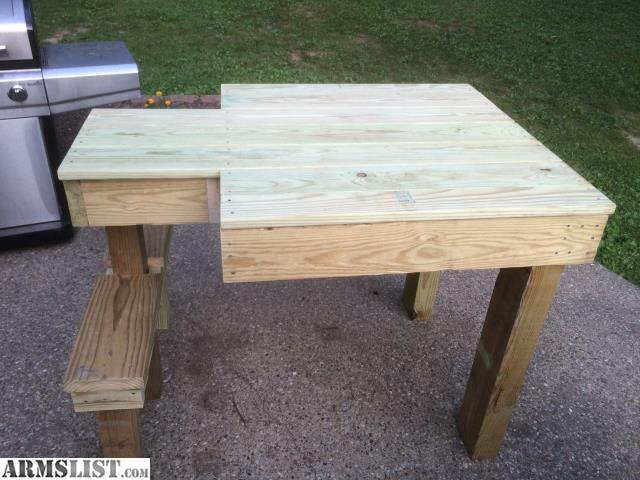 Armslist For Sale Treated Wood Shooting Bench Ambidextrous Very Strong And Sturdy
