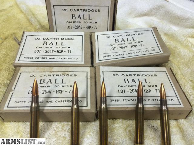 30 cal ball m2 ammo