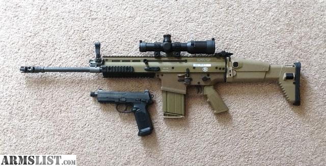 Have a scar 17 fde with a 5x spotting scope for sale and 500 rounds