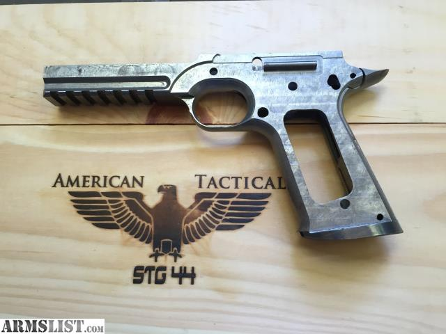 this is a kto 1911 80 frame from the calguns group buy in 2013 this model has the additional rails and a flared magazine direct form the kto factory