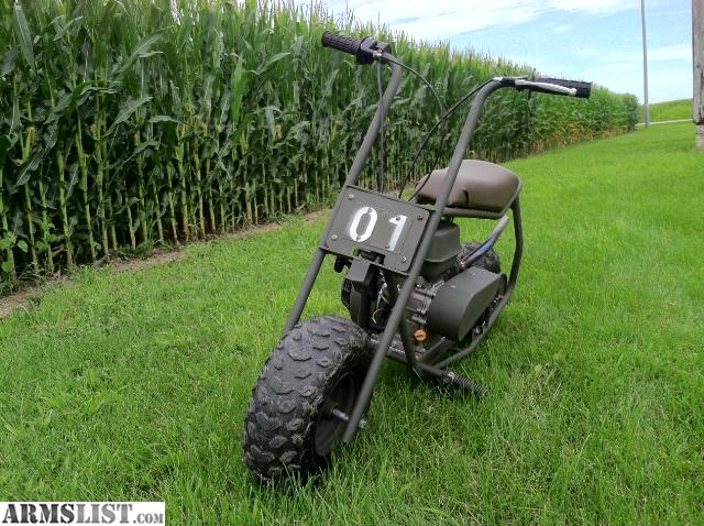 this is a custom military style mini bike built on a doodle bug frame this bike was built from the ground up and is 100 functionstarts every time - Mini Bike Frames For Sale