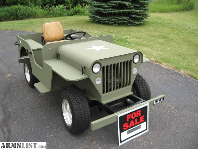 Armslist for sale army jeep 80 scale golf cart for Golf cart plans