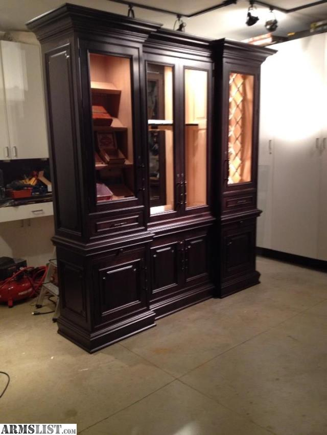 This One Of A Kind, Custom Designed And Handcrafted Gun Cabinet With Humidor  And Wine Storage Is A Flawless Piece Of Functional Art.