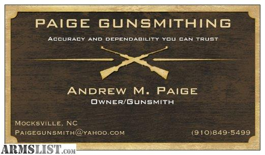 how to become a gunsmith in nc