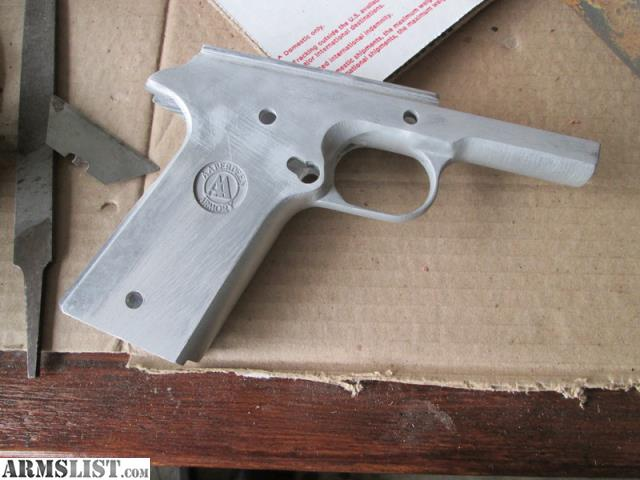 ARMSLIST - For Sale: Unfinished 1911 frame, 80%, aluminum