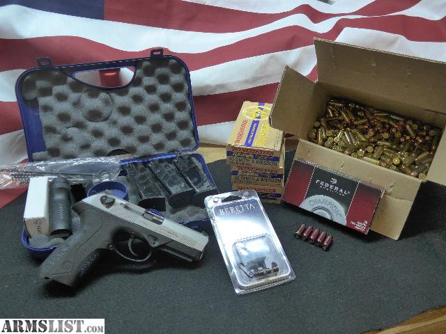 ... For Sale: Beretta PX4 Storm .40 Inox w/ Ammo (500+Rds) & Extras $550