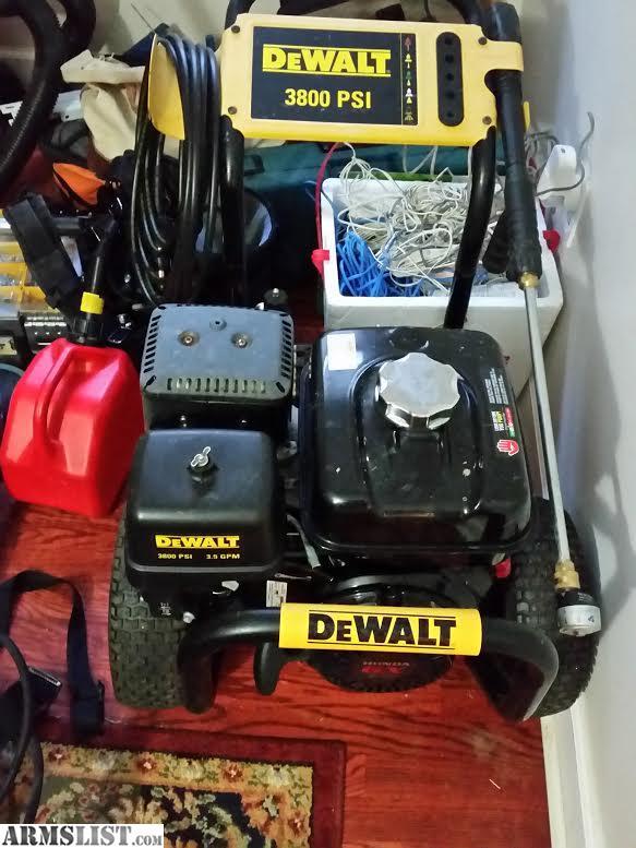 Dewalt 3800 Psi Pressure Washer For Sale Armslist For Sale