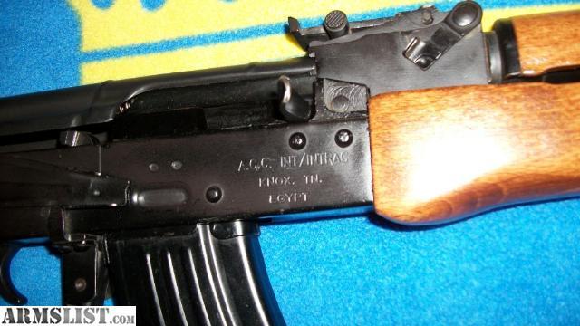 ARMSLIST - For Sale/Trade: Egyptian Maadi RPM AK47 ACC ...