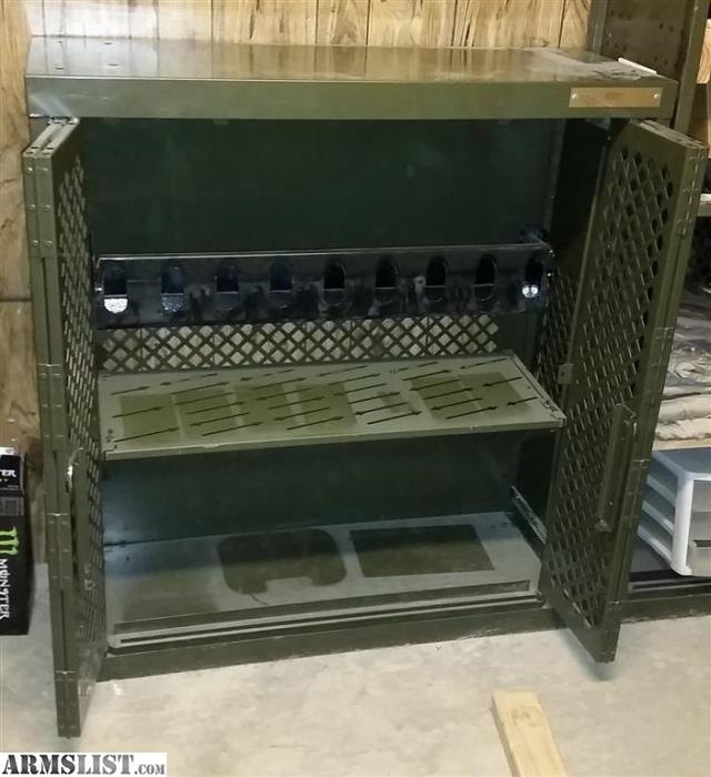 Damaged Kitchen Cabinets For Sale: For Sale: Military Weapons Cabinet With Pistol