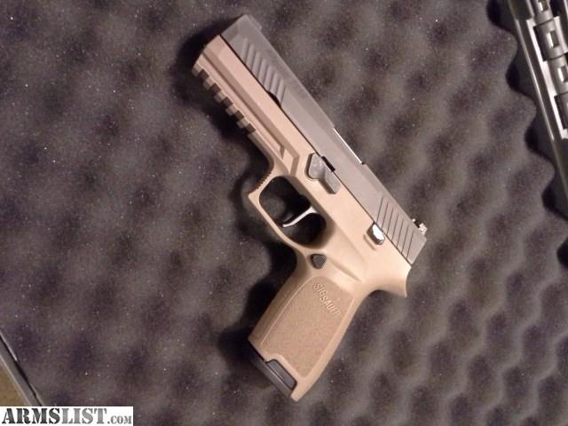 ARMSLIST - For Sale: Sig P320 full-size FDE **extras**