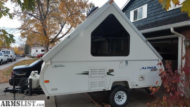 up for sale or trade 2010 aliner ranger popup a frame camper off road package includes suspension lift diamond plating bigger wheels and tires everything