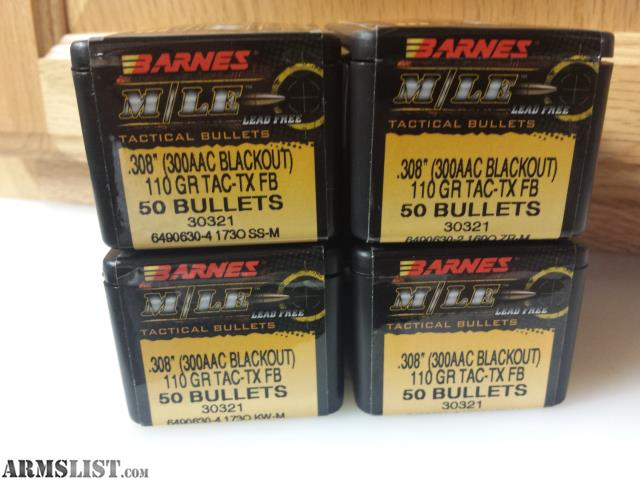 ARMSLIST - For Sale/Trade: barnes tac-tx 110 grn bullets ...