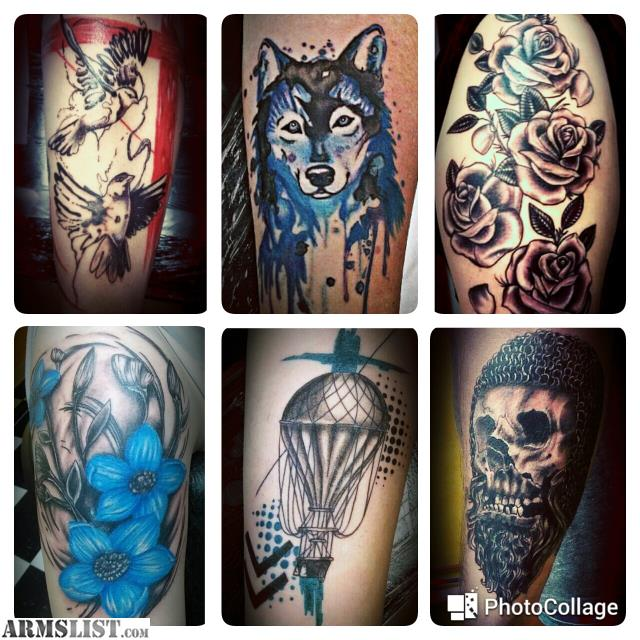 Armslist for sale trade professional tattoo artist for Tattoo artist license